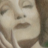 Detail from Portrait of Marlene Dietrich as a Waterfall by Mark Sheeky