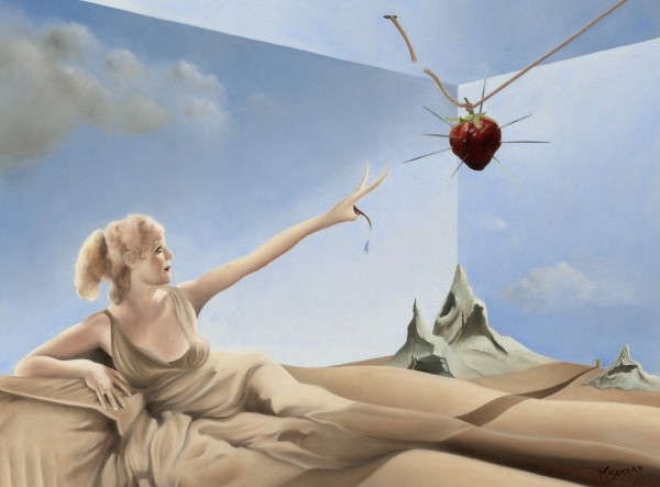 Reaching for an Untouchable Strawberry by Mark Sheeky